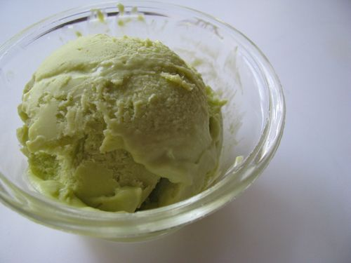 Avocado ice cream scoop