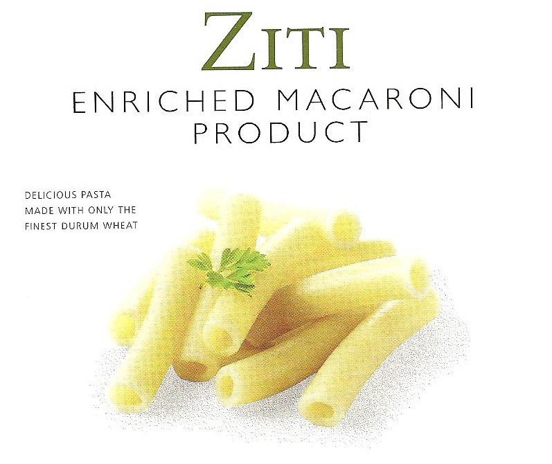 Ziti pasta label1