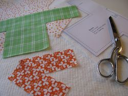 Fabric basket pattern pieces