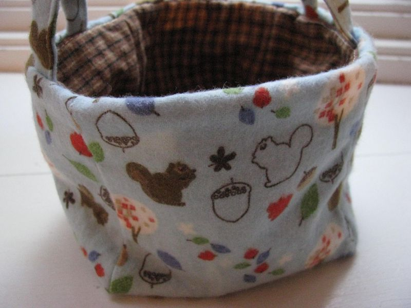 Nature fabric basket