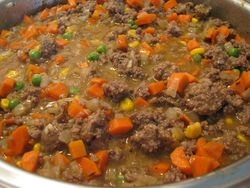 Shepherds pie meat and veggies