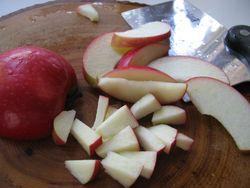 Apples chopped
