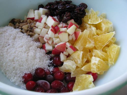 Cranberry orange relish ingredients