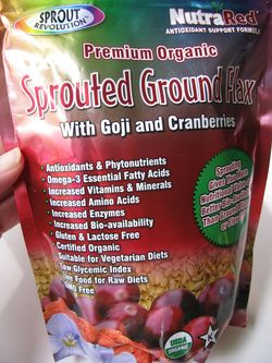 Sprouted ground flax