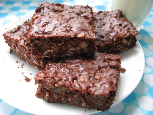 Oatmeal date brownies