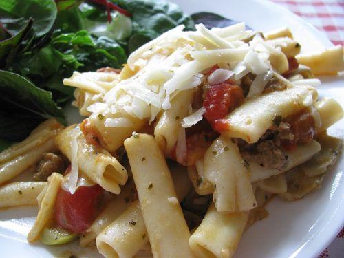 Sausage + artichoke bolognese
