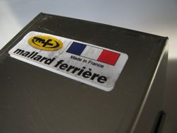 French pan label