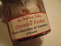 French jam jar label