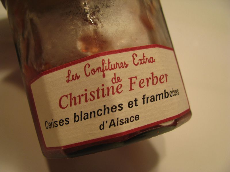 French jam jar label