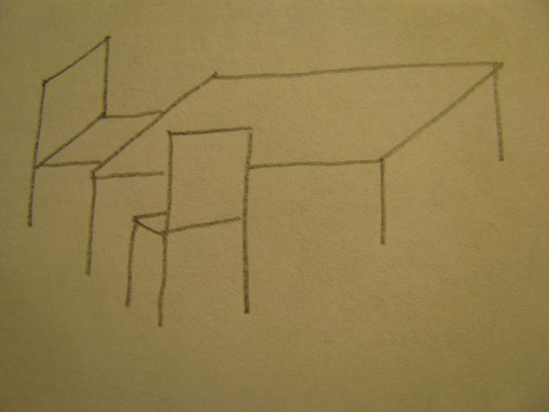 Table and chairs sketch