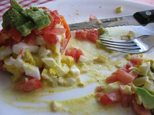 Egg salad stuffed peppers