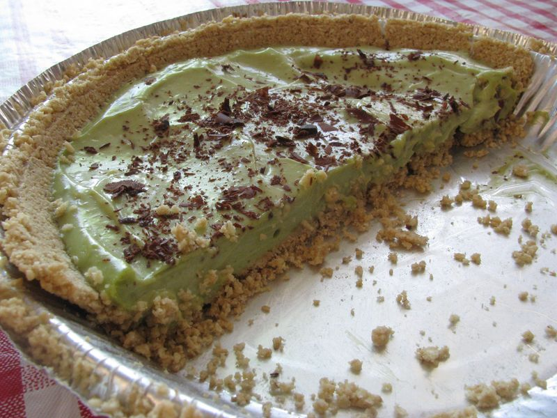 Avocado lemon pie