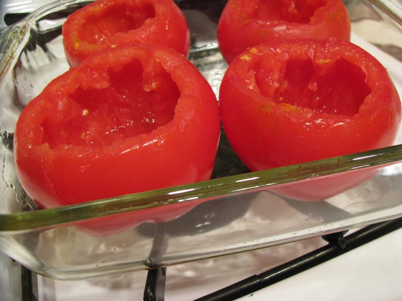 Hollowed tomatoes