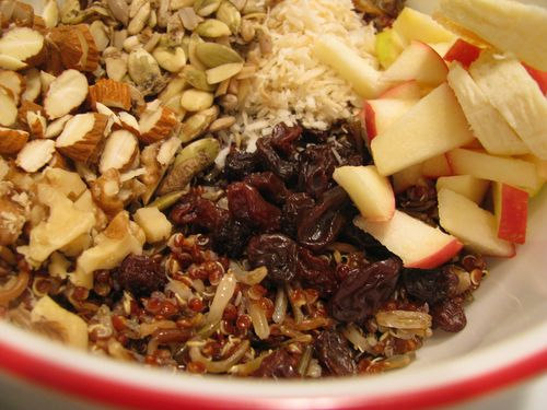 Quinoa wild rice cooked