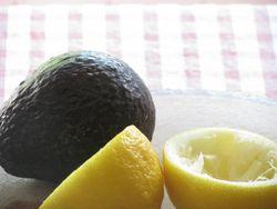 Avocado and lemon