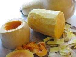 Butternut squash prep