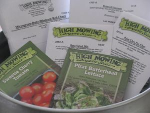 High mowing seeds order