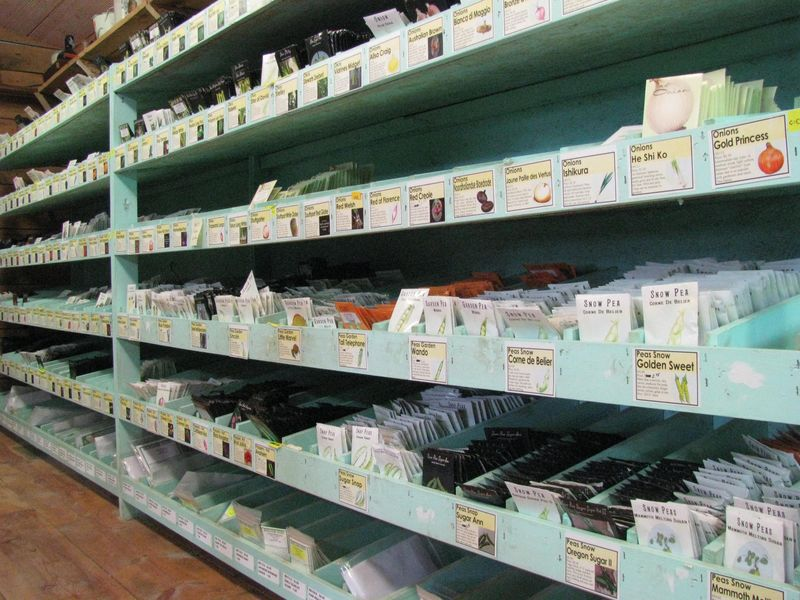 Baker creek seed display shelves