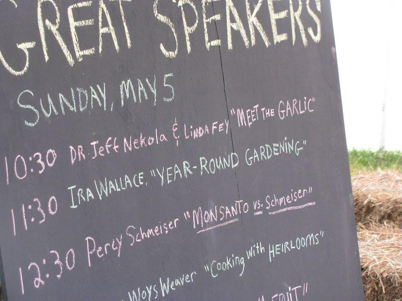 Baker creek seed speakers blackboard