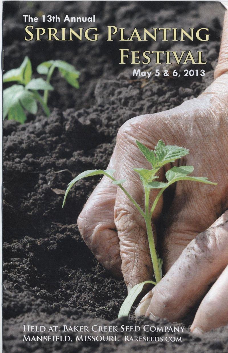 Baker creek seed festival brochure