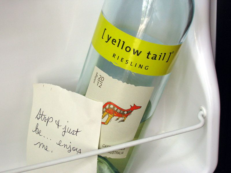 Yellow tail wine