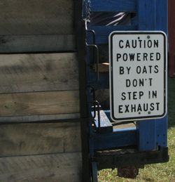 Powered by oats sign