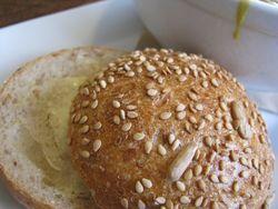 Bread alone bakery's crusty bun