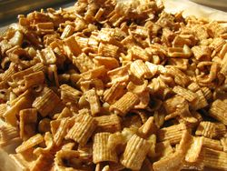 Cinnamon crunch on tray