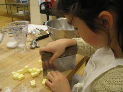Cubing butter