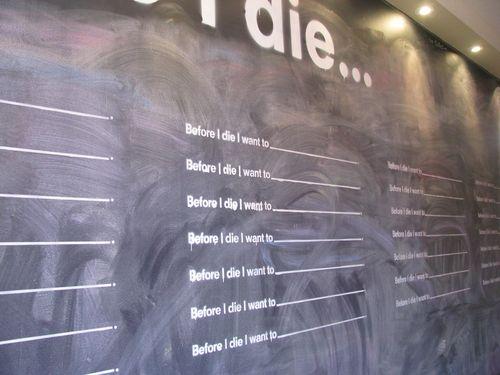 Before i die chalkboard