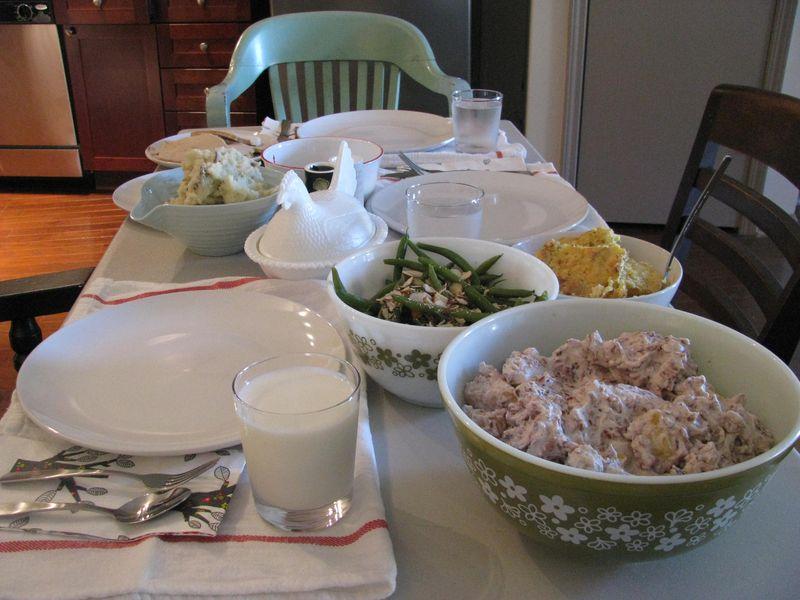 Thanksgiving dinner 2013 at jessie's