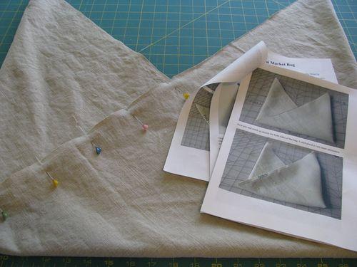 Origami market bag folding