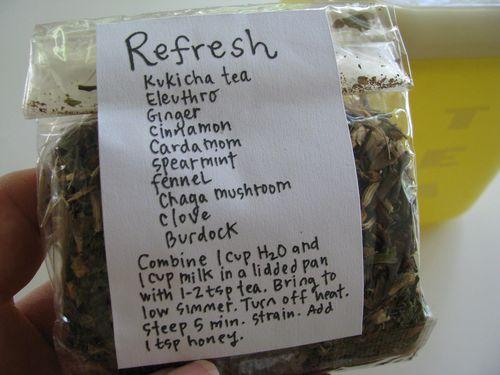 Chaga mushroom tea blend