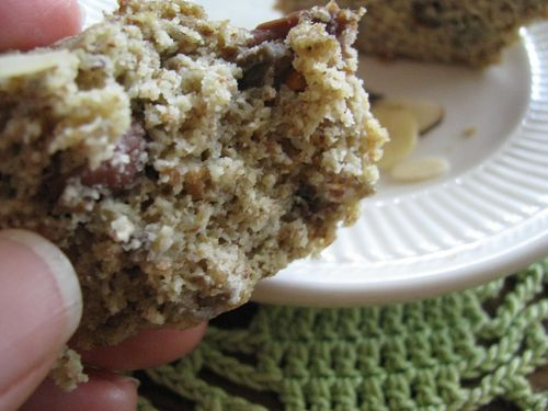 Almond pulp muffin quartered