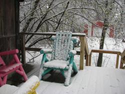 Snowy RR car deck
