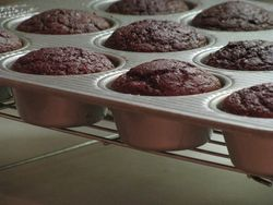 Beet cupcakes baked
