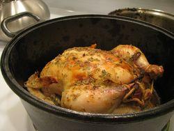 Dutch oven roast chicken