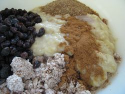 Almond pulp banana flatbread ingredients
