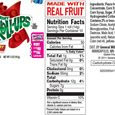 Strawberry fruit roll-up label