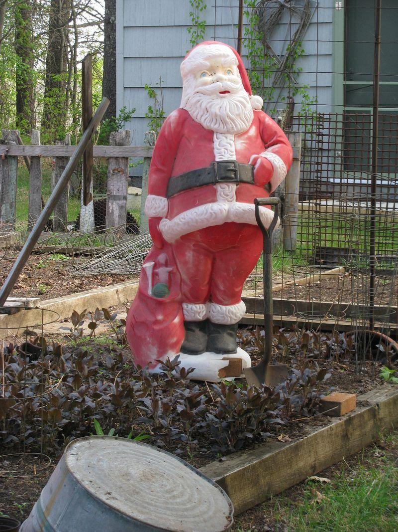Santa scarecrow