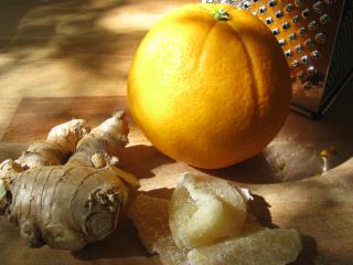 French spice cake ginger + orange