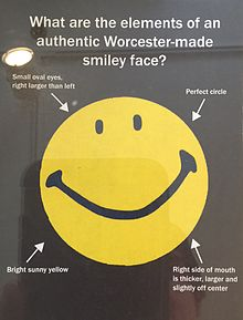 Authentic_Worcester-made_smiley_face,_Harvey_Ball