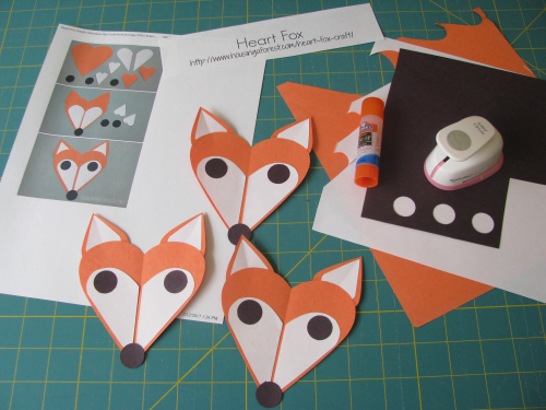 Heart fox valentines