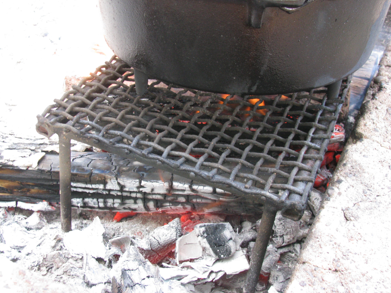 Campfire grate