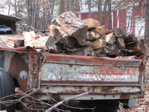Firewood truck box