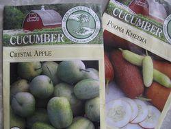 Heirloom cuke seed packets
