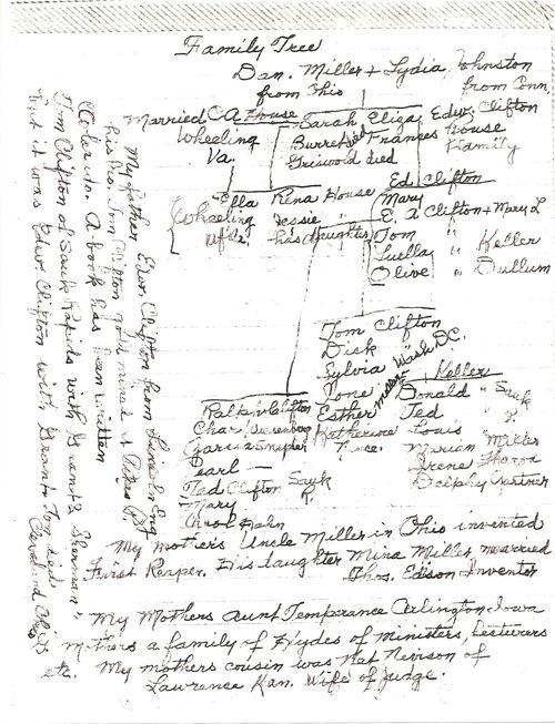 Olive clifton dullum family tree