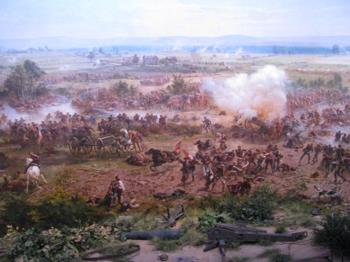 Battle of gettysburg day sky