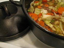 Dutch oven hamb veg soup