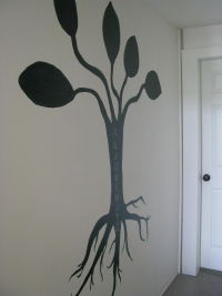 Roots raw juice bar wall mural
